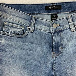White House Black Market Jeans - [WHBM] Noir Boot Leg Metal Stud Bead Sz 6S